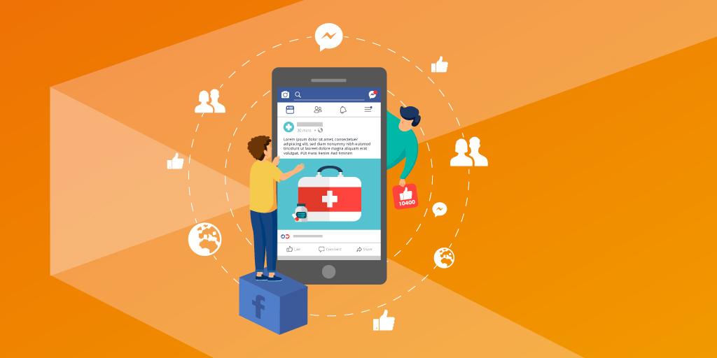 gestione pagina facebook nel settore medico